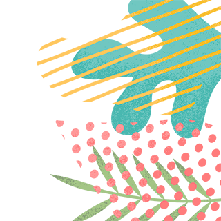 Another illustration of plants and leaves