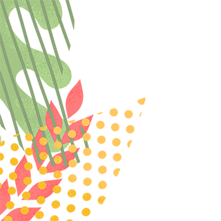Illustration of plants and leaves
